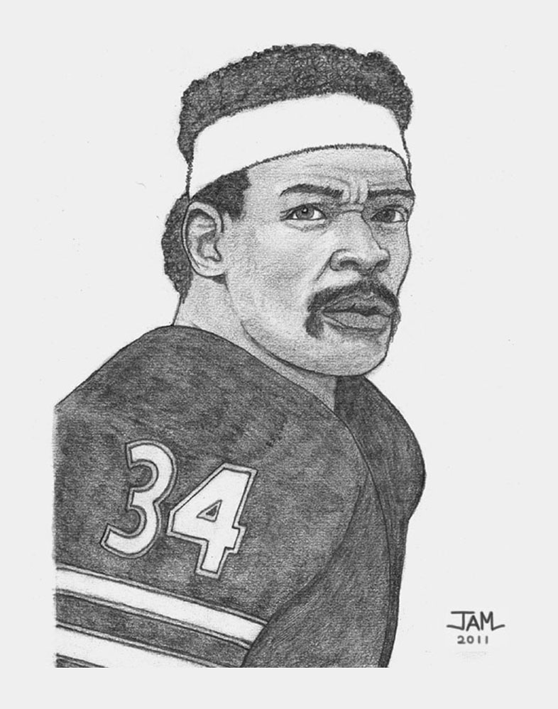 Pencil drawings & sketches of athlete Walter Payton