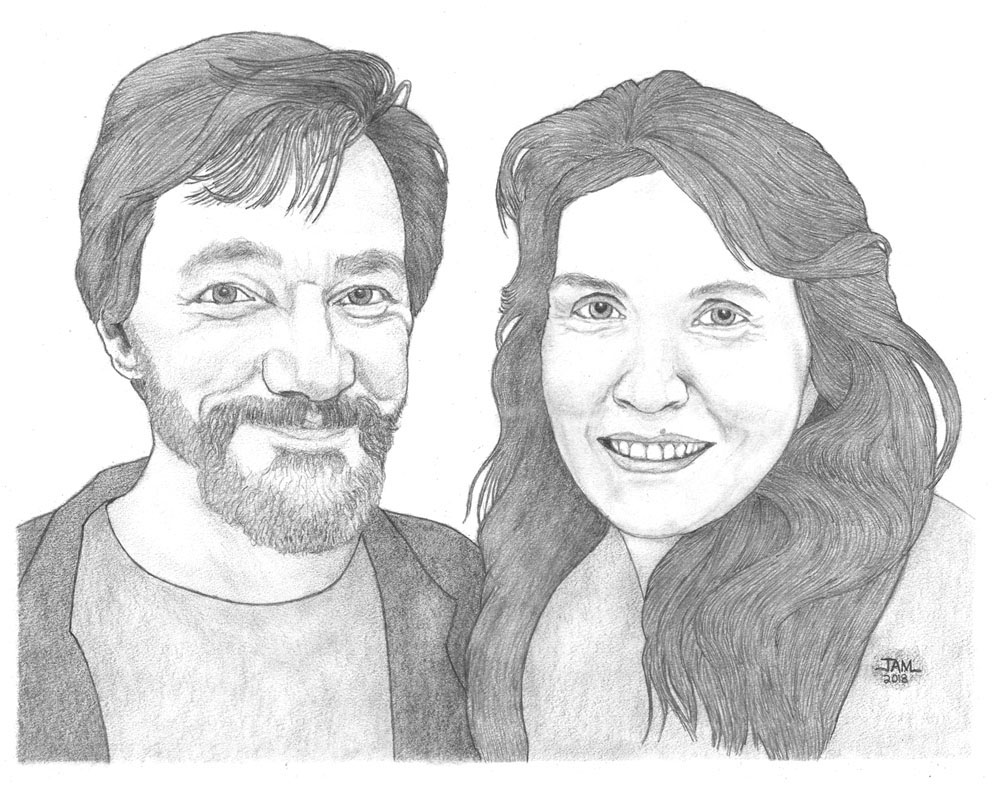 Pencil drawings & sketches of people - portraits & figures
