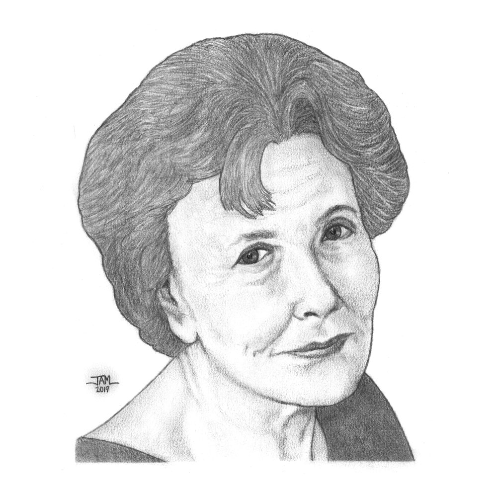 Pencil drawings & sketches of poet Denise Levertov