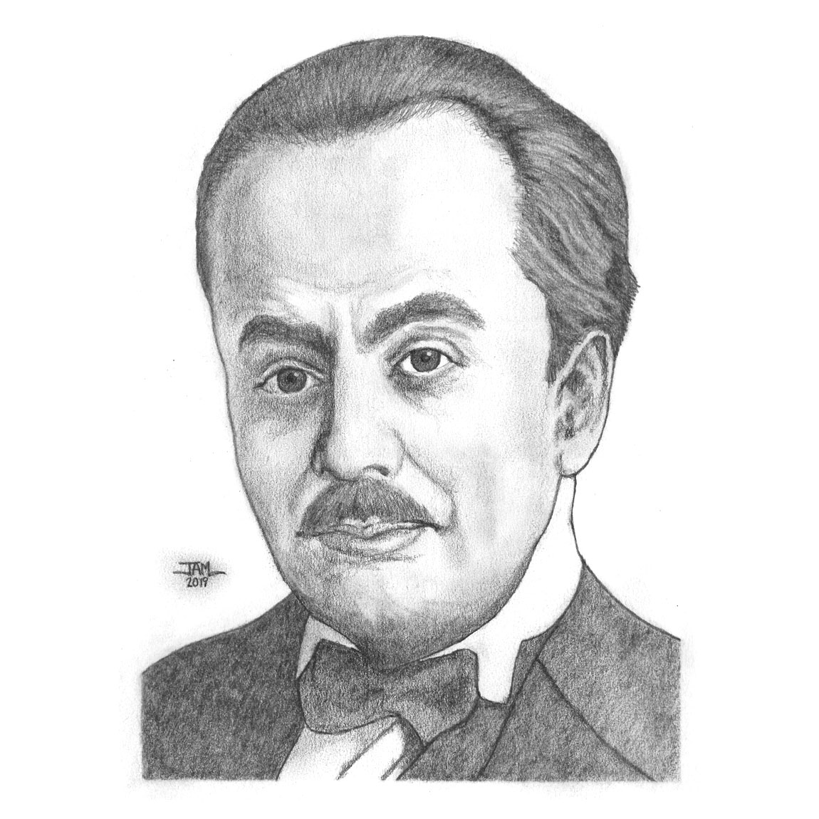 Pencil drawings & sketches of poet Khalil Gibran